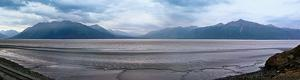 Panorama de Montagnes le long de Seward Highway en Alaska